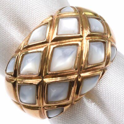 AUTHENTIC  Ring K18 yellow gold/Moonstone #13.5(JP Size) Women