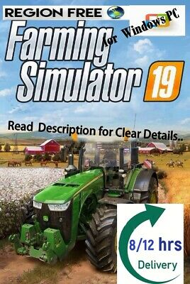 Farming Simulator 19 Game PC (Worldwide) [8HRS Shipping][Global Free]