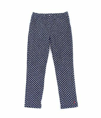 Nautica Girls Leggings Blue White Size 6 Bow-Printed Pull On Stretch $32- 689