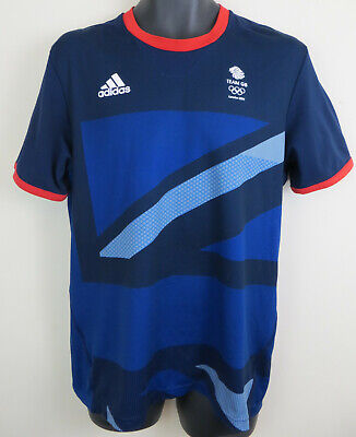Adidas Olympics London 2012 Team GB Football Shirt Jersey Top Men Medium 40/42