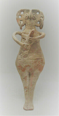 Circa 1000 Bce Ancient Syro-Hittite Terracotta Fertility Figure Mother Goddess