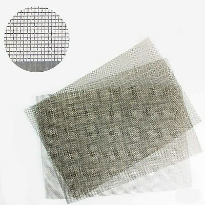 Fine #70 Stainless Steel Mesh 0.22mm Hole A3 300mm x 420mm 0.076mm Wire