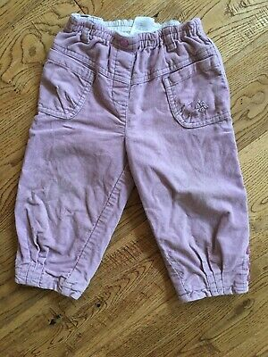 Baby girls trousers size 12-18 months purple lavender lined NEXT