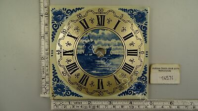 Warmink Zaandam Or Zaanse Clock Blue Delft Tile Dial