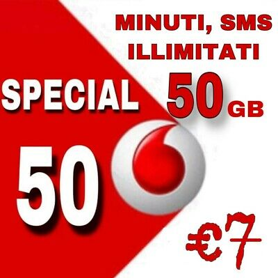 Passa a Vodafone special MIN.SMS ILLIM.50 Gb/7€ H3G-VIRT.-HO MOBILE-CON CORRIERE