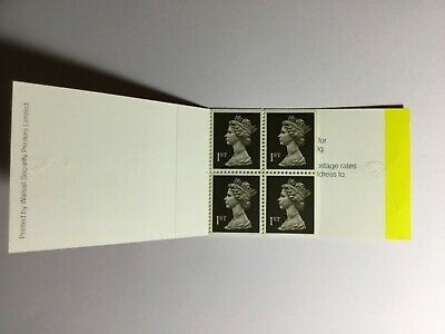GB Stamp Booklet HB1 4x1st Class Black , Straight Edges , Catalogue Value £8.50