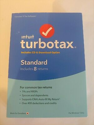 INTUIT TURBOTAX Standard Deluxe 2016 Canadian Version Bilingual Canada Tax CRA