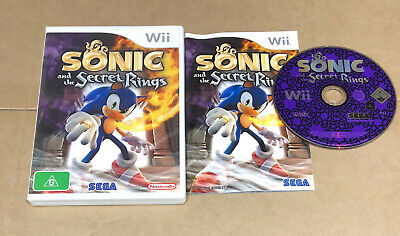 Sonic and the Secret Rings  - Nintendo Wii GAME - COMPLETE - FREE POST!