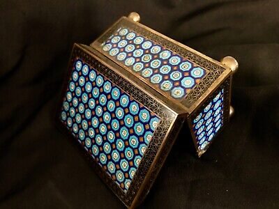 ANTIQUE ART DECO CHINESE COPPER &  ENAMEL BOX FROM 1900th MAGNIFICENT