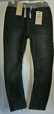 New Boys Marks & Spencer Denim Jeans Black size 9-10 years