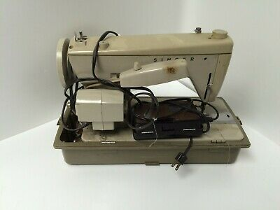 Vintage Singer Fashion Mate Model 237 Sewing Machine with Pedal