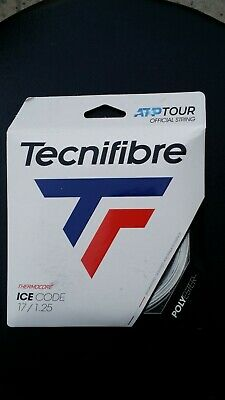 Pack of 5 --Technifibre Ice Code 17 Ga., Polyester Tennis String, Free Shipping