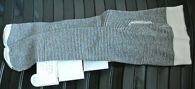New Next baby girls/boys warm tights Ivory/navy stripes  size 3-6  months
