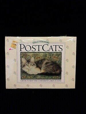 Lesley Anne Ivory PostCats A book to keep & 15 different Sealed Post cards Cats