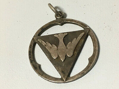 Vintage Antaya Sterling Silver Christian Religious Holy Dove Pendant Charm