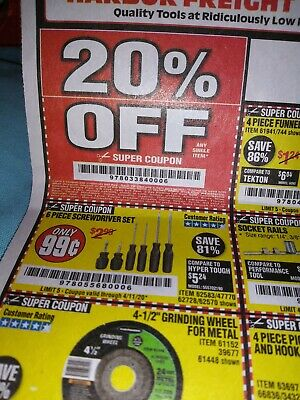 Harbor Freight 20% Off Discount Coupon - Huge Savings Home Depot Lowe's 4/11/20