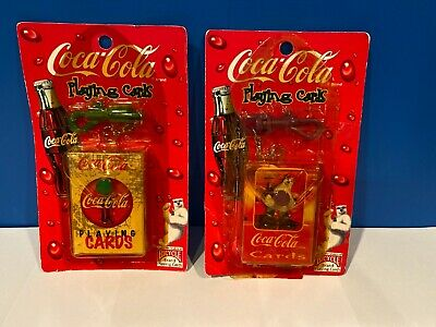 1990s Coca-Cola Playing Cards on a Key Chain Clip