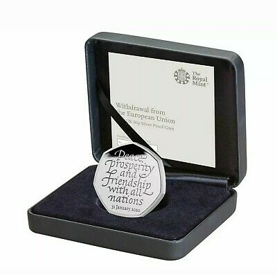 Brexit 50p Coin Silver Proof Official Royal Mint coin 1