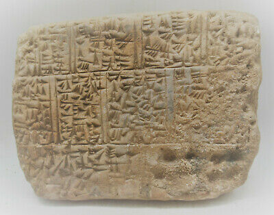 Circa 2000Bce Ancient Near Eastern Clay Tablet With Early Form Of Writing Rare