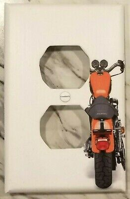 Red Motorcycle/Rear View - Outlet Cover - FREE Shipping