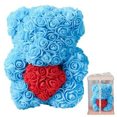 Rose Teddy Bear With Box 30cm For Valentine's Day/Wife/Birthday Gift