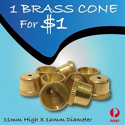 Brass Cone piece - Brass cone - smoking pipe bonza cone smoking pipe stem