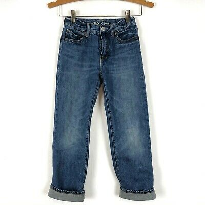 Gap Boys 8 Jersey Lined Jeans Blue Regular Classic Fit
