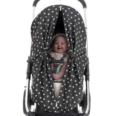 New Outlook Sleep Eazy Stroller Cover Black Swallows Free Express Shipping