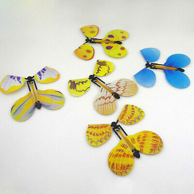 5x Funny Transform Flying Butterfly into a Butterfly Trick Prop Magic Toy