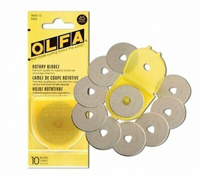 Olfa Rotary Blades 45mm Replacements Pack of 10 (RB45-10)