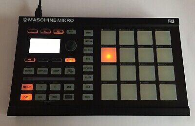 NI Maschine MIKRO Black Native Instruments Pad controller device only + USB CORD