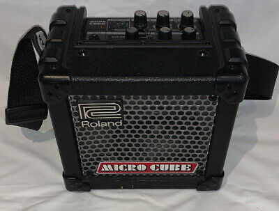 Roland Micro Cube Guitar Amp With A New Levy Strap.