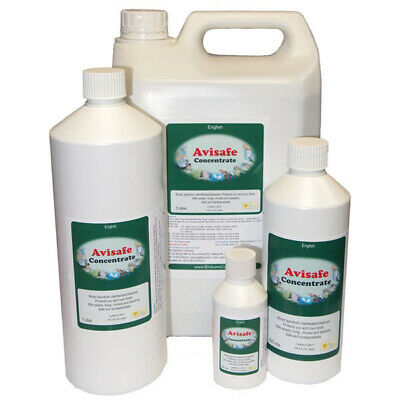 AVISAFE CONCENTRATE 100ml Bird Cage Cleaner Disinfectant Birdcare Co Company