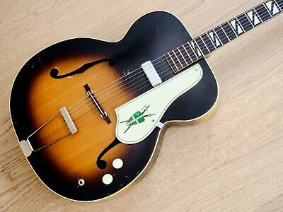 1950s Silvertone Model 670 Vintage Kay-Made USA Archtop Electric Guitar w/ Case
