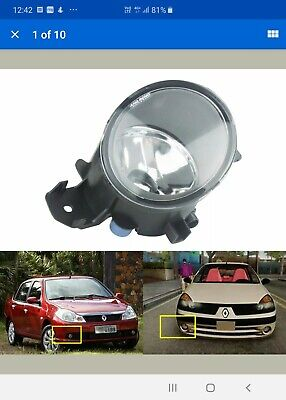 Renault Clio 2005-2009 Drivers OSF Front Fog Light 8200002470