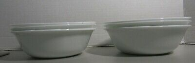 6 Corelle Corning Winter Frost White soup cereal salad bowls