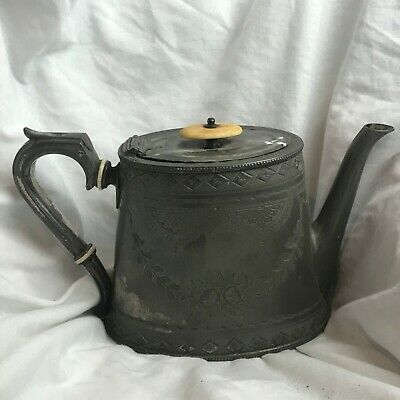 Antique Victorian Old Teapot Tea Pot