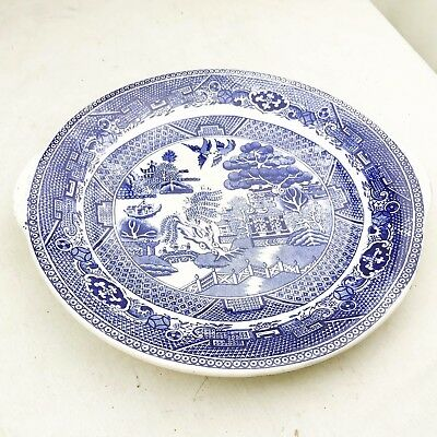 Antique Blue White Early Cake Side Serving Plate