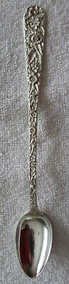 Repousse Rose Kirk Sterling Silver ice tea beverage spoon 7  1/2""