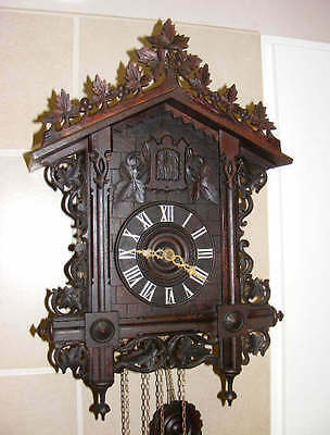 old German rail road type cuckoo clock HAAS PH. & Soehne