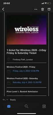 Wireless Festival 2020 Saturday 4th July Ticket
