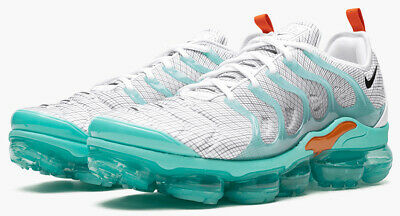 Nike Air VaporMax Plus Men's Shoe 924453-107 'WHITE/AURORA GREEN' sz 8-13