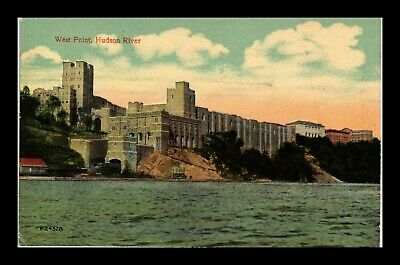 Us Postcard West Point Fort Military Academy On Hudson River New York