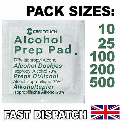 70% IPA Isopropyl Alcohol Wipes / Swabs for Tattoo, Piercing, Nails (NHS Grade)