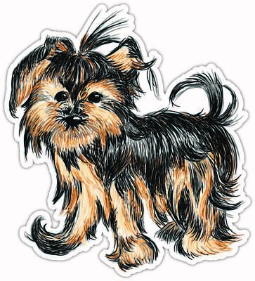 Yorkie Yorkshire Terrier Sign Decal Car Window Sticker Morkie on Board V01