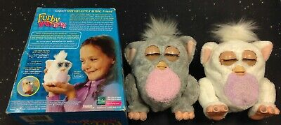 Rare 2005 Grey  & White Furby Babys In Box with Instructions. Working.  RARE