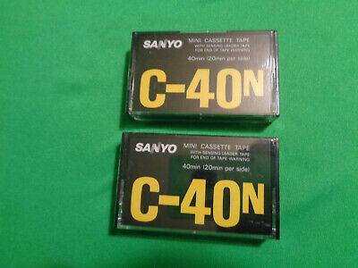 2 New Sanyo 40min Dictaphone Philips MINI Cassette Tapes