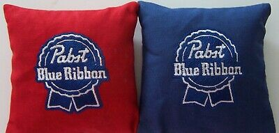 8 Quality Embroidered Cornhole Bags! Pabst Blue Ribbon Beer!  Wicked Nice!