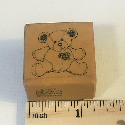 PSX Small Teddy Bear w/ Heart B997 Rubber Stamp