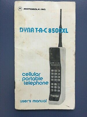 DYNA TAC 8500XL 1986 Motorola Vintage Cell Phone User's Manual ONLY!